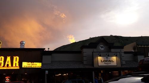 021 sunset over the Cowboy Bar